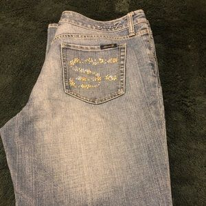 Seven7 Jeans light wash flare size 14